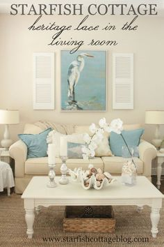 Join me today for a Heritage Lace Coastal Collection feature! http://kristyseibert.com/blog/2015/06/heritage-lace-in-the-living-room.html
