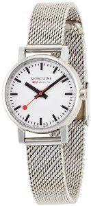 Mondaine Women's A658.30301.11SBV Quartz Evo Steel Band Watch  I love these Mondaine watches, in the classic style of Swiss railway clocks.