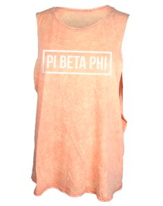 Pi Beta Phi Acid Wash Muscle Tank by Adam Block Design | Custom Greek Apparel & Sorority Clothes | www.adamblockdesign.com