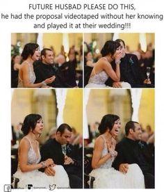 Future Husband Please Do This,. wedding future husband Creative Marriage Proposal Ideas I Love Cute Wedding Ideas, Wedding Tips, Perfect Wedding, Our Wedding, Dream Wedding, Wedding Inspiration, Wedding Stuff, Wedding Themes, Trendy Wedding