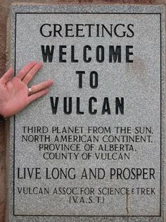 Vulcan, Alberta, Canada is a place for a lot of fun, and a lot of Star Trek fans. This video shows a bit of what the town has to offer, other then the Vulcan. Quebec, Starship Enterprise, Star Trek Tos, Star Wars, Roadside Attractions, Geek Out, Live Long, Nerdy, British Columbia