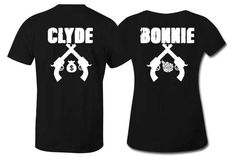 Bonnie and Clyde Couple Shirts His and Hers by TaintedApparel