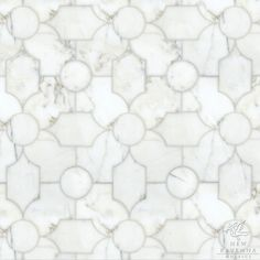 """Name: Chatham 2 Style: Contemporary Product Number: NRJFCHATHAM2  Description: 24""""x 24"""" Chatham 2 in Calacatta Tia (p)"""