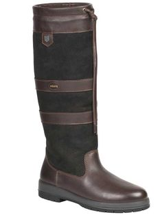 The Dubarry Galway SlimFit Boot - black/brown - size 38 (US Tall Boots, Knee High Boots, Black Boots, Leather Wellies, Dubarry Boots, Cheaney Shoes, Brogue Chelsea Boots, Moccasin Ankle Boots, Country Boots