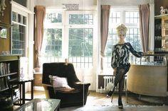 Olga Kurylenko by Greg Williams for Vogue Olga Kurylenko, Greg Williams, 70s Home Decor, Living Room Designs, Style, Cycle 3, Facetime, Vanity Fair, Waiting