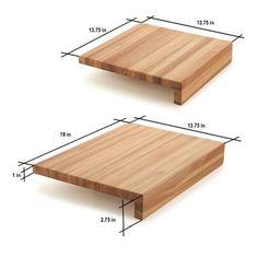 Origin Origin Lyptus Solidwood Countertop Cutting Board Size: H x 1 Woodworking Projects Diy, Diy Wood Projects, Wood Crafts, Diy Crafts, Modern Cutting Boards, Diy Cutting Board, Granite Cutting Board, Butcher Block Cutting Board, Wooden Chopping Boards