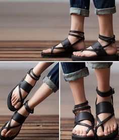bc49db9a3b4d12 PreOrder Roman Black  Red Brown Sandals First by clothingshow