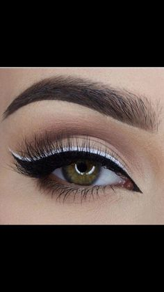 """Explore our website for more details on """"eyeliner styles"""". It is actually an exceptional place to learn more. Makeup Eye Looks, Cute Makeup, Pretty Makeup, Skin Makeup, Eyeshadow Makeup, Beauty Makeup, Eyeshadows, White Eyeliner Makeup, Kohl Eyeliner"""