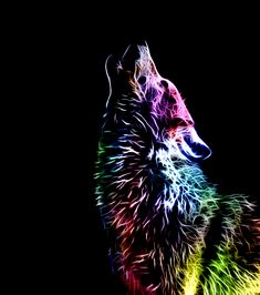 Fractal Wolf by ~minimoo64 on deviantART