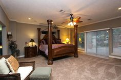 Master Suite with open French doors to back patio.. This could work!!