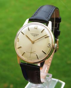 Vintage Watches Collection : Antiques Atlas - Gents Gold Longines Wrist Watch, - Watches Topia - Watches: Best Lists, Trends & the Latest Styles Stylish Watches, Luxury Watches, Cool Watches, Rolex Watches, Watches For Men, Longines Watch Men, Hand Watch, Vintage Watches, Quartz Watch