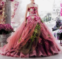 If you always dreamt of a gorgeous romantic wedding, then you definitely need to check this Stella de Libero bride's wedding gowns collection Colored Wedding Dresses, Wedding Gowns, Bridal Gowns, Beautiful Costumes, Beautiful Gowns, Pretty Outfits, Pretty Dresses, Fairytale Gown, Fantasy Gowns