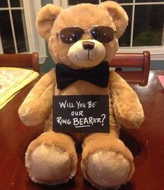 Cute way to ask ring bearer