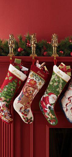 Needlepoint Stockings #Christmas