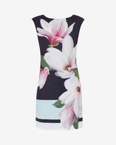 Magnolia Stripe textured dress - Navy   Dresses   Ted Baker