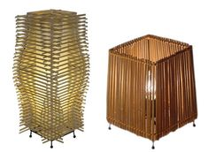 Kwytza Kraft makes a variety of different home accessories all made from recycled sanitized chopsticks. Recycled chopstick lamps...