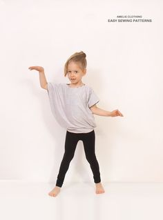 Reversible Simple TUNIC pattern - Children tunic pdf pattern - girls summer top pattern - From 2T to 10 years