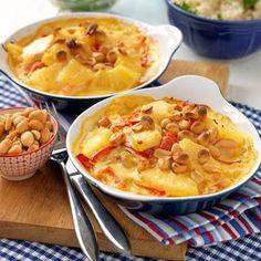 Kassler i ugnen - Hemmets Journal Pork Recipes, Recipies, Snack Recipes, Cooking Recipes, Snacks, Chili, Weekday Meals, Recipe Images, I Love Food