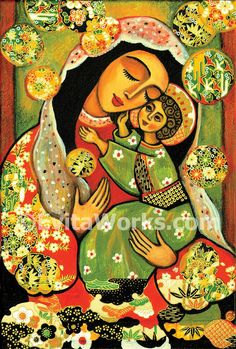 Virgin Mary and Jesus child Madonna and child by EvitaWorks