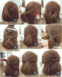 髪の毛が短くても、ばっちり可愛くなれるハーフアップ。だだ留めるだけじゃなく、様々な種類があるんです。コーディネートに合わせたハーフアップで、雰囲気チェンジしてみませんか?