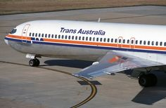 Trans Australia Airlines Boeing 727-276 (VH-TBJ) Australian Airlines, Boeing 727, Air New Zealand, Commercial Aircraft, Flaxseed, Air Travel, Australia Travel, Military Aircraft, Jets