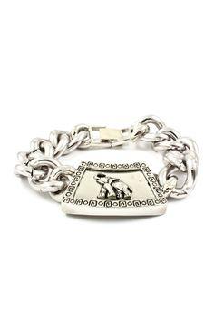 Silver Elephant Charm Bracelet