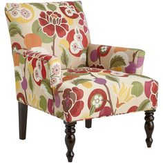 Liliana Armchair - Bold Floral Red | Pier 1 Imports