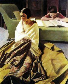 """Felice Casorati - """"Raja"""" (1925)"""