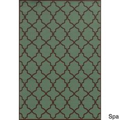 Indoor/ Outdoor Lattice Rug (3'7 x 5'6)