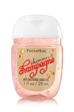 Shimmer & Champagne PocketBac Sanitizing Hand Gel - Cheers to a special glitter edition! A blend of golden champagne & shimmering sugar crystals Bath Body Works, Bath N Body, Bath And Body Works Perfume, Alcohol En Gel, Vitamin E, Perfume Body Spray, Lush Bath Bombs, Bath And Bodyworks, Tips Belleza