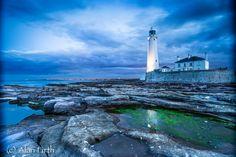 Blue hour, St Mary's Lighthouse by Alan Firth, via 500px