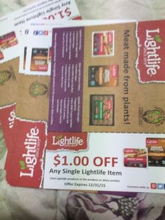 lot of 20 1.00 of any single lightlife item