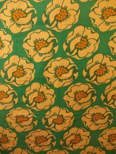 Retro Blommigt tyg Fina färger 60/70-tal 206cm långt på Tradera.com -
