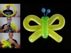 como hacer una mariposa con globos paso a paso- globoflexia facil - mariposa facil - YouTube Easy Balloon Animals, Ballon Animals, Butterfly Balloons, Balloon Flowers, Balloon Shapes, Balloon Columns, Festa Lady Bag, Diy Arts And Crafts, Crafts For Kids