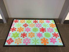 Fußmatte mit Weihnachtssternen. Motiv: Pattern Design