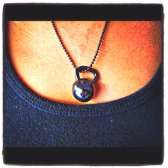 Kettle bell necklaces!  www.unbrokendesigns.net
