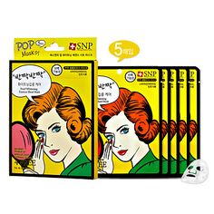 [SNP Cosmetic] POP Whitening Essence Natural Cellulose Sheet Mask 25ml x 5ea – USD $ 11.99
