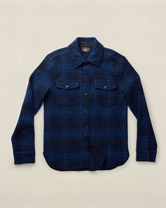 Plaid Wool-Blend Sweater - RRL Cardigan & Full-Zip - RalphLauren.com