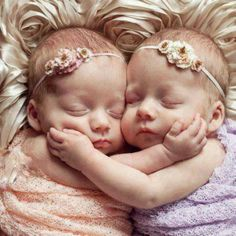 Newborn twin portrait