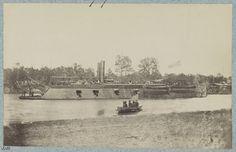 U.S. gunboat Pittsburg - Mississippi River Fleet.  photographed between 1861 and 1865,