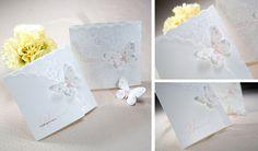 2 Schmetterling Pink Einladungskarten zur Hochzeit farbig 3 D online Neuanfang! Schmetterlinge Hochzeit Idee