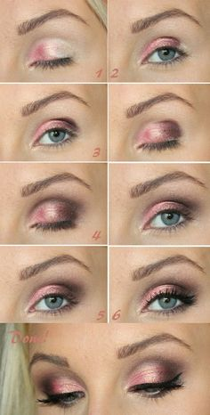 Pink with Silver Eye Shadow #eyeshadow #beauty #makeup