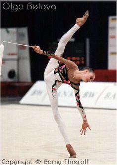 Olga Belova performing a rhythmic gymnastics routine. Gymnastics World, Amazing Gymnastics, Rhythmic Gymnastics, Gymnastics Routines, Gymnastics Coaching, Contortion, Leotards, Ballet Dance, Yoga