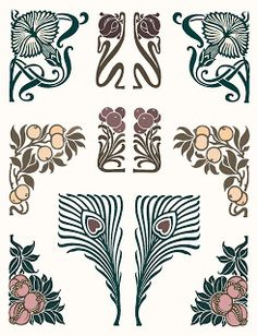 Ionas Closet: Still in Circulation: Art Nouveau Typographic Ornaments
