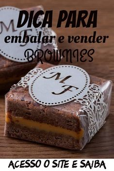funny pictures of chickens & funny pictures & funny pictures to take with friends & funny pictures for kids & funny pictures of chickens Brownie Packaging, Baking Packaging, Dessert Packaging, Brownie Pops, Brownie Cookies, Mini Cakes Tutorial, Mini Brownies, Cake Recipes, Snack Recipes