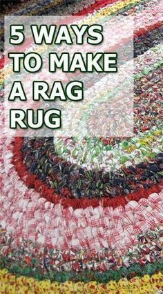 Sewing Projects 5 Ways to Make a Rag Rug Rag Rug Diy, Diy Rugs, Toothbrush Rug, Sewing Crafts, Sewing Projects, Diy Crafts, Handmade Crafts, Sewing Art, Homemade Rugs