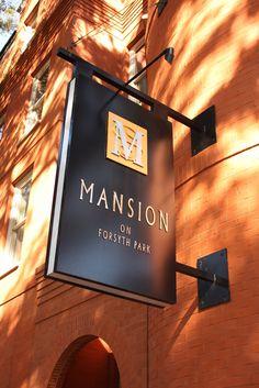 Savannah, GA : Sign of Mansion on Forsyth Park