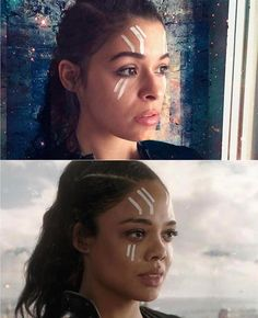 Have you seen the Thor Ragnarok trailer? Nerd Makeup Ambassador Becka Noel is a Valkyrie doppelgänger! Thor Ragnarok Costume, Marvel Ragnarok, Thor Valkyrie, Family Halloween Costumes, Halloween Cosplay, Diy Costumes, Marvel Costumes, Marvel Cosplay, Avengers