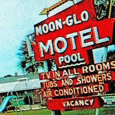 Noon-Glo #motel big size art print for sale @WerkaandeMuur check Melanie Rijkers #ikzieikzie #popart anno 2014 info@artstudio23.com also available as large digital file (to print your own!)