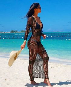 Fashionmia has the latest beachwear for women. Discover our collection of sexy beachwear and choose your beachwear clothing, beach bikinis and beach swimwear, shop now! Beach Dresses, Sexy Dresses, Summer Dresses, Sexy Bikini, Black Bikini, Bikini Babes, Summer Wear, Summer Outfits, Beach Outfits